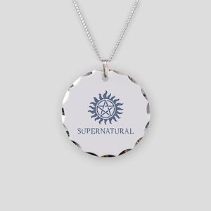 SUPERNATURAL Tattoo blue Necklace