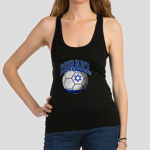 Flag of Israel Soccer Ball Racerback Tank Top
