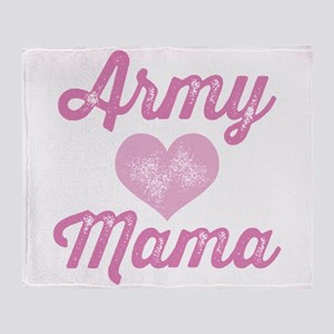 Army Mama (grunge) Throw Blanket