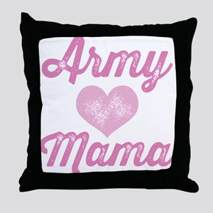 Army Mama (grunge) Throw Pillow