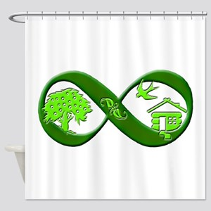 Permaculture Shower Curtain