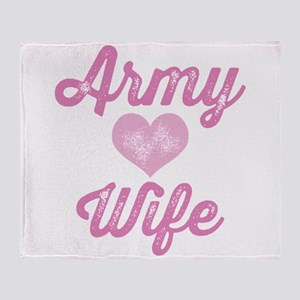 Army Wife Throw Blanket