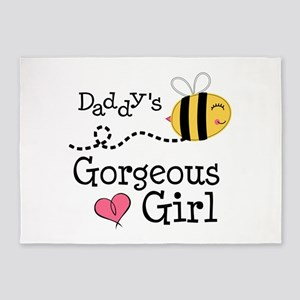 Bumble Bee Daddys Girl 5'x7'Area Rug