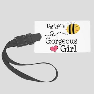 Bumble Bee Daddys Girl Large Luggage Tag