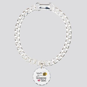 Bumble Bee Daddys Girl Charm Bracelet, One Charm