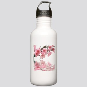 Flowers Water Reflection Stainless Water Bottle 1.