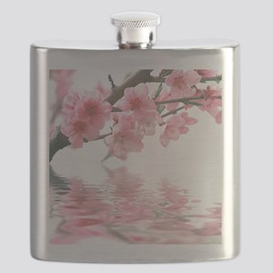 Flowers Water Reflection Flask