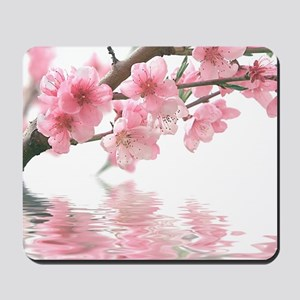 Flowers Water Reflection Mousepad