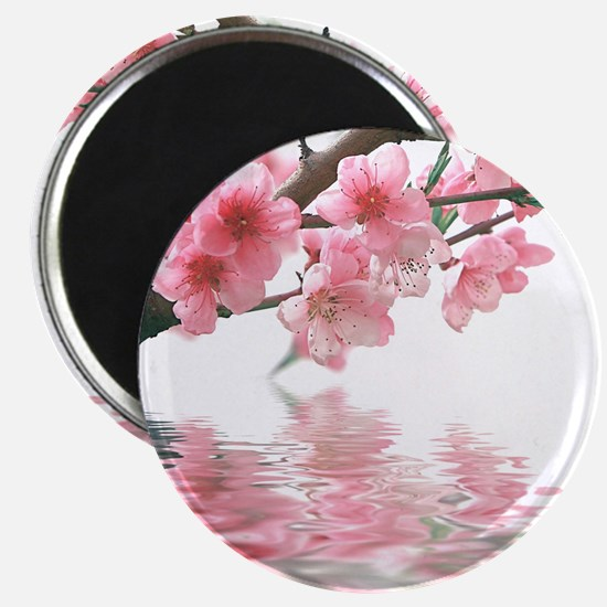 Flowers Water Reflection Magnet