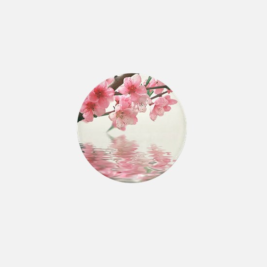 Flowers Water Reflection Mini Button
