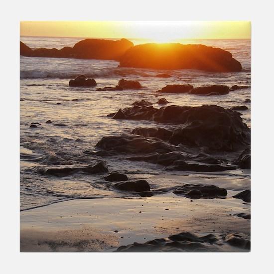 California Sunset Tile Coaster