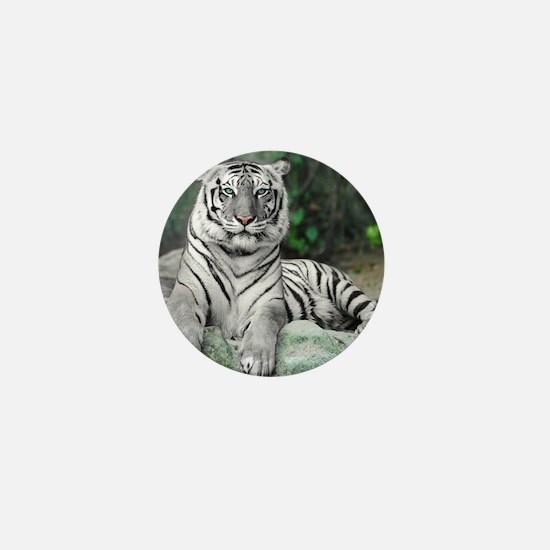 White Tiger Mini Button