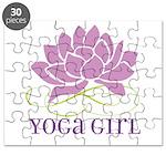 yoga girl Puzzle