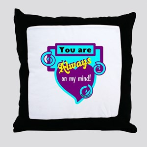 Always On My Mind-Willie Nelson Throw Pillow