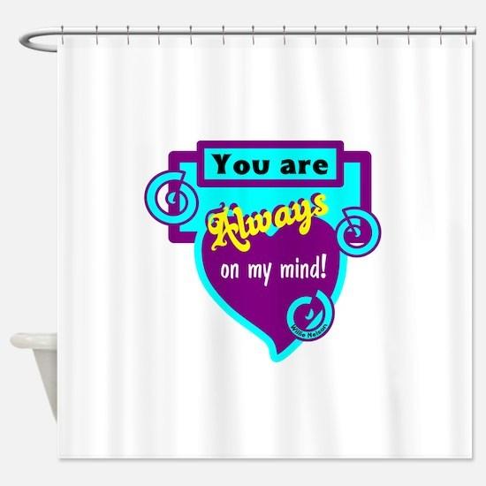 Always On My Mind-Willie Nelson Shower Curtain