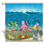 Sea Life Fish Cute Shower Curtain