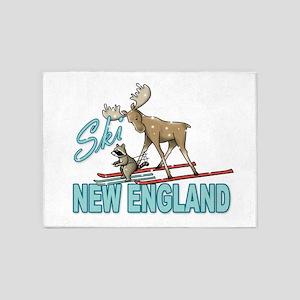 Ski New England 5'x7'Area Rug