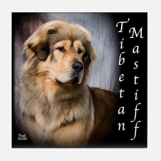 Tibetan Mastiff Tile Coaster