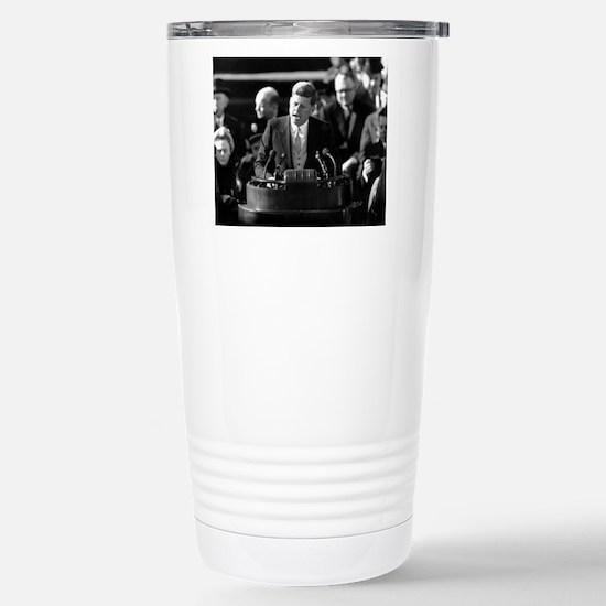John F. Kennedy Stainless Steel Travel Mug