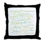 Catullus Green Throw Pillow