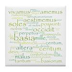 Catullus Green Tile Coaster