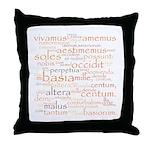Catullus Orange Throw Pillow