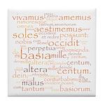 Catullus Orange Tile Coaster