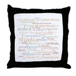 Catullus Ancient Colors Throw Pillow