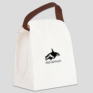Save the Orcas - captivity kills Canvas Lunch Bag