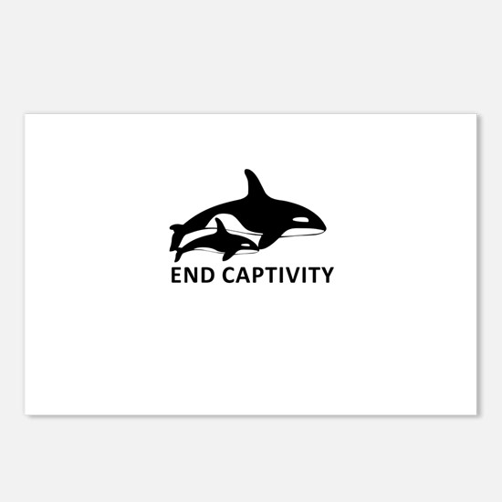 Save the Orcas - captivity kills Postcards (Packag