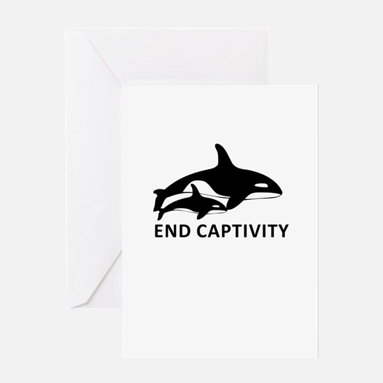 Save the Orcas - captivity kills Greeting Cards