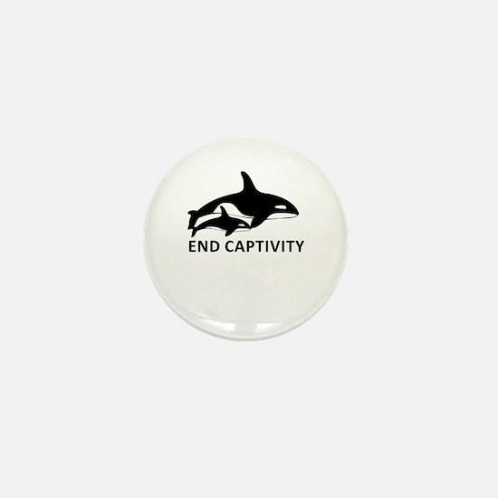 Save the Orcas - captivity kills Mini Button