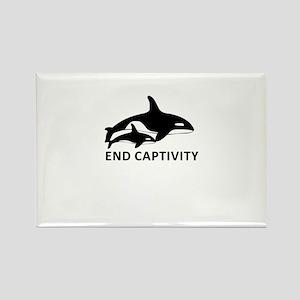 Save the Orcas - captivity kills Magnets