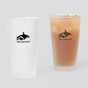 Save the Orcas - captivity kills Drinking Glass