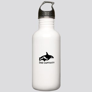 Save the Orcas - captivity kills Water Bottle