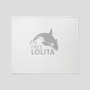 Free Lolita Throw Blanket
