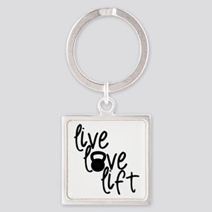 Live, Love, Lift Keychains