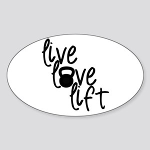 Live, Love, Lift Sticker