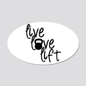Live, Love, Lift Wall Decal