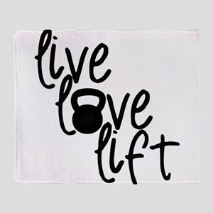 Live, Love, Lift Throw Blanket