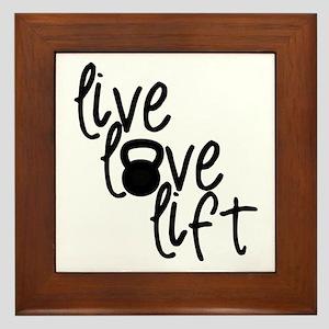 Live, Love, Lift Framed Tile