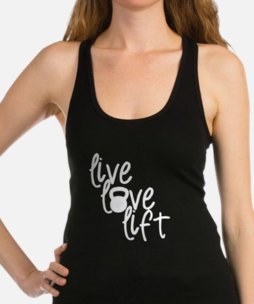 Live, Love, Lift Racerback Tank Top