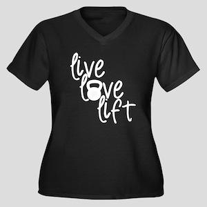 Live, Love, Lift Plus Size T-Shirt