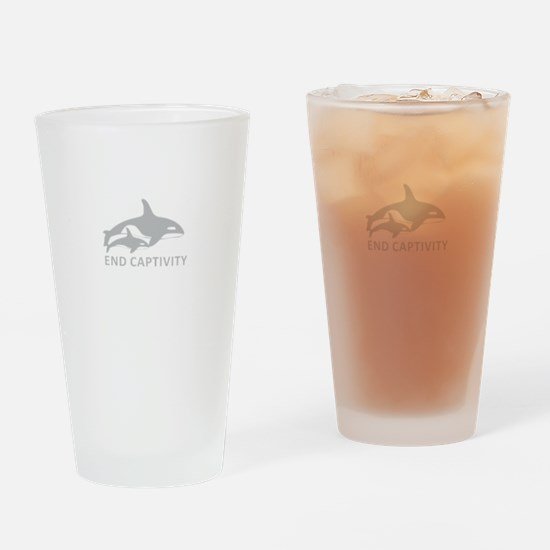 End Captivity Drinking Glass