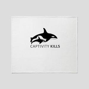 Captivity Kills Throw Blanket