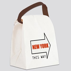 NEW YORK THIS WAY Canvas Lunch Bag