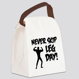 Never Skip Leg Day Canvas Lunch Bag