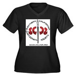 ClassicLogo Women's Plus Size V-Neck Dark T-Shirt