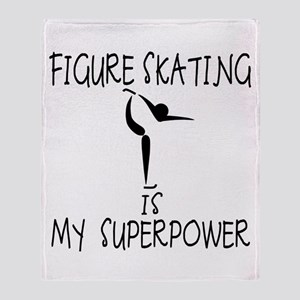 FIGURE SKATING is My Superpower Throw Blanket