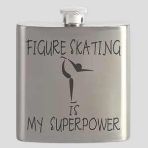 FIGURE SKATING is My Superpower Flask